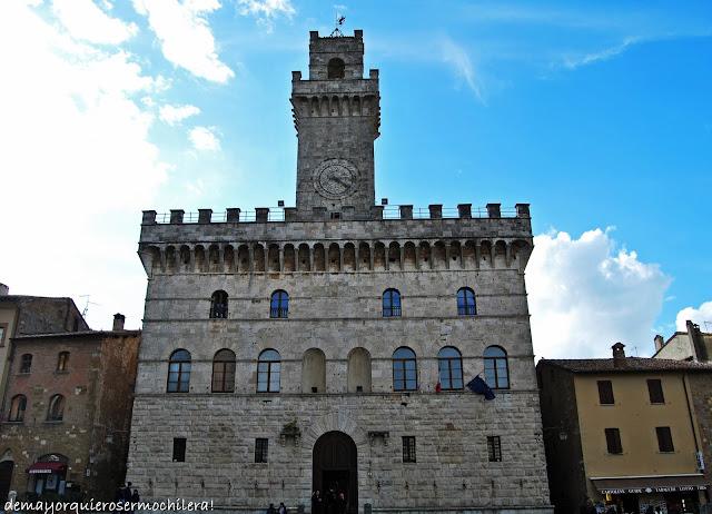 Palazzo Comunale en Piazza Grande, Montepulciano