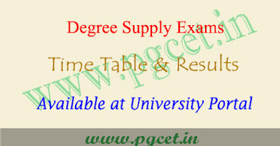 PU degree supplementary time table 2018-2019, Palamuru university results