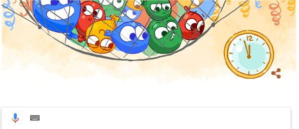 جوجل ترفع شعار ليلة راس السنة 2017 , احتفالات راس السنة الميلادية 2017
