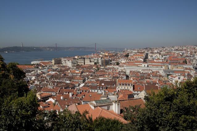 Vista dal Castelo de Sao Jorge-Lisbona