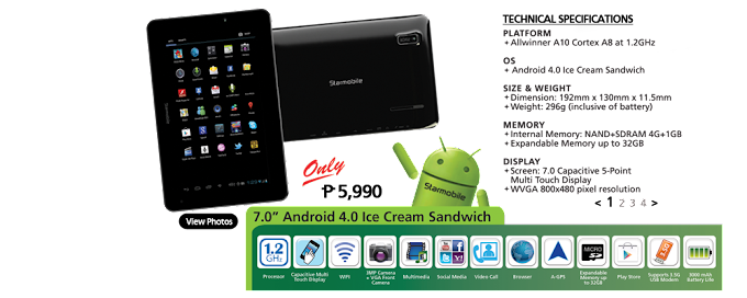 Starmobile Engage tablet (Price and Key Features)