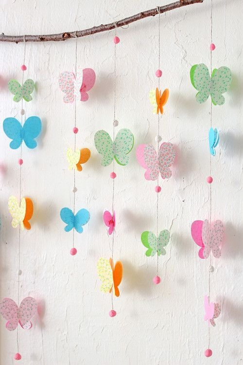 Paper butterflies in home decor easy crafts