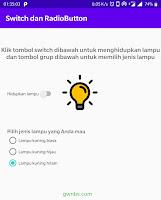 Cara membuat Switch dan Radio Button Android Studio