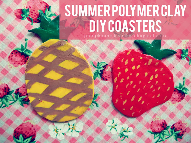 Summer Polymer Clay DIY Coasters
