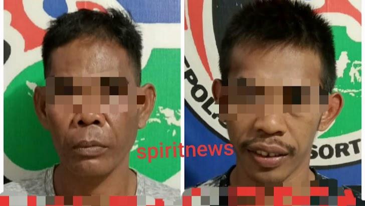 Inilah Dua Pengedar Barang Haram Eks Napi Curnak Bersama Anak Kandungnya Diringkis Tim Drugs Hunter  Polres Takalar