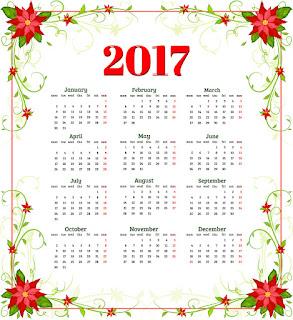 2017カレンダー無料テンプレート80