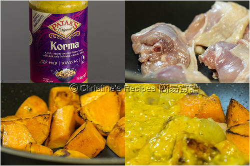 印度咖哩雞製作圖 Indian Korma Chicken Procedures