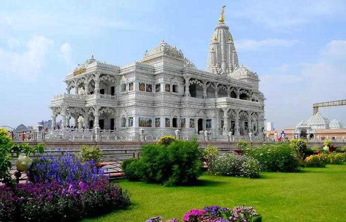 Prem Mandir Vrindavan , Mathura   Radha Krishna Prem Mandir Vrindavan Timing , History , Architecture