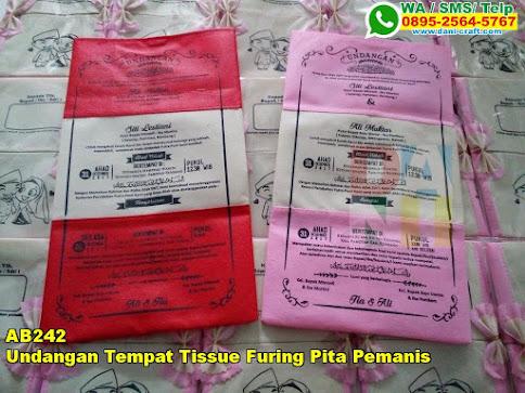 Toko Undangan Tempat Tissue Furing Pita Pemanis