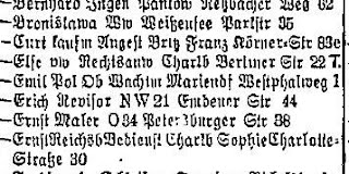 1934 Berlin Address book - listing for:  Ziebell, Else vw Rechtsanw Charlb Berliner Str 22