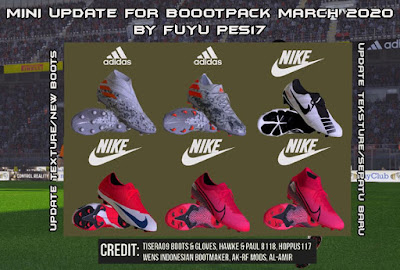 PES 2017 Bootpack March UP 2020 + Mini Update by FuyuPES17 Boots
