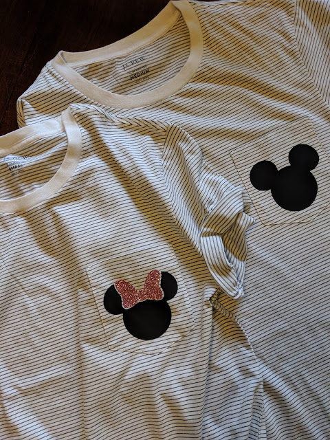 His and Hers Matching Disney T Shirts Cricut Craft | www.kristenwoolsey.com