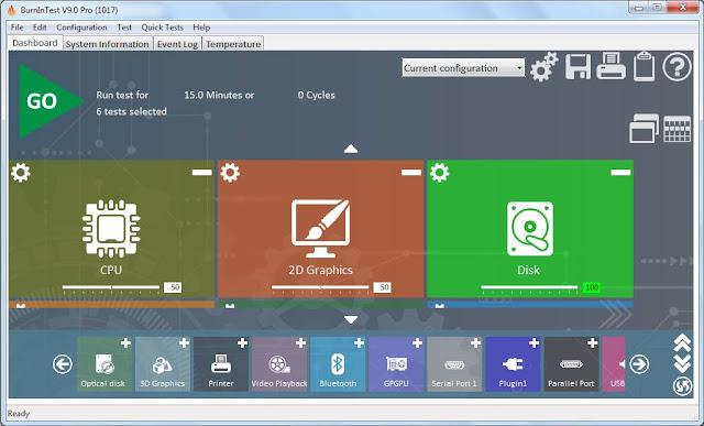 Screenshot BurnInTest Professional 9.0 Build 1017 (x64) Full Version