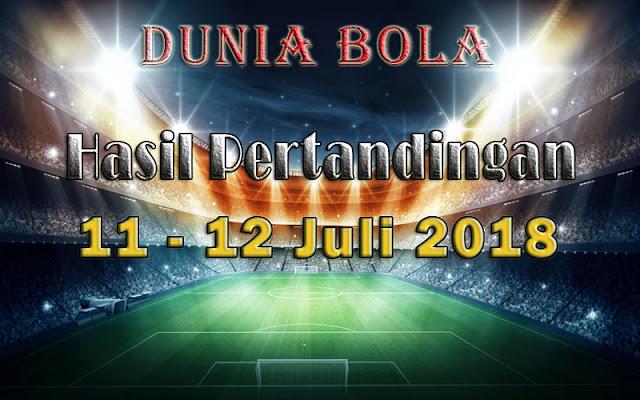 Hasil Pertandingan Sepak Bola Tanggal 11 - 12 Juli 2018