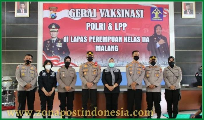 Serbuan Vaksin Polresta Malang Kota dlm rangka HUT Polwan ke 73.