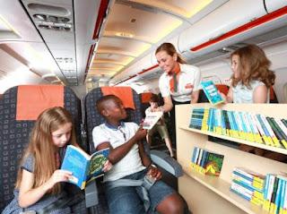 Hãng hàng không Anh mang thư viện lên máy bay