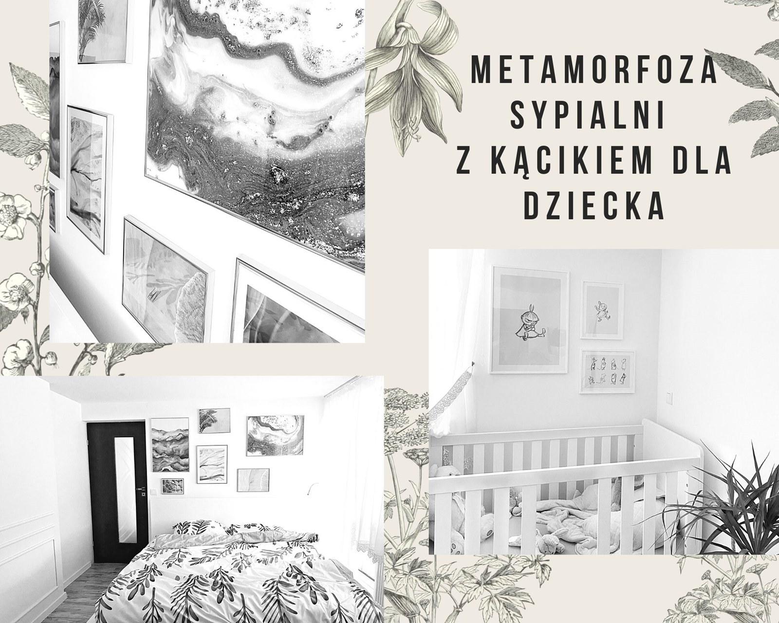 sypialnia z kącikiem dla dziecka