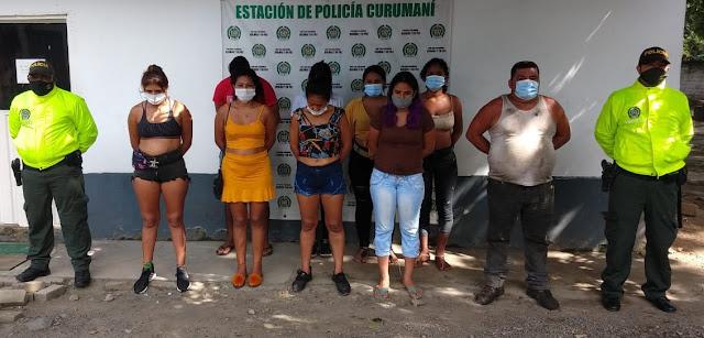 hoyennoticia.com, Guerra a la prostitución en Curumaní, 9 capturados