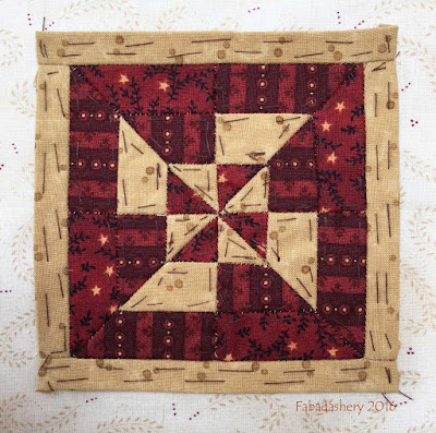 Dear Jane Quilt - Block M9 Fan Dance