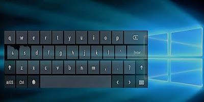 اظهار لوحة مفاتيح اللمس في ويندوز 10
