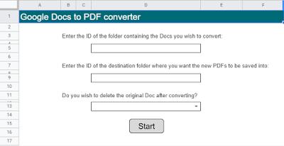 Bulk convert Google Docs to PDFs using Apps Script