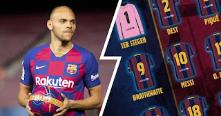 Barcelona officially announced squad numbers for all players; Braithwaite takes No.9