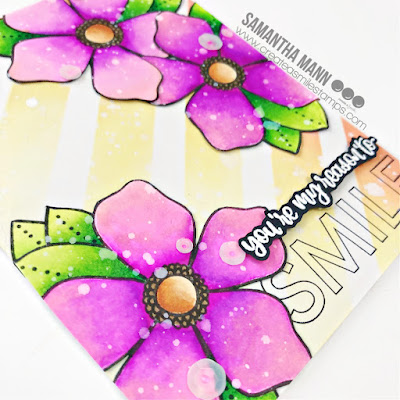 You're My Reason to Smile Card by Samantha Mann for Create a Smile Stamps, Encouragement Card, Floral, Flowers, Distress Inks, Ink Blending, Stencil, watercolor, #createasmile #createasmilestamps #clearstamping #handmadecards #cardmaking #distressinks