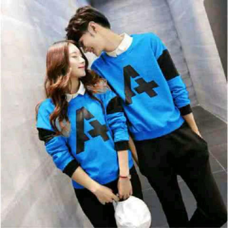 Jual Online Sweater Alpha Neo Turquise Couple Murah Jakarta Bahan Babytery Terbaru