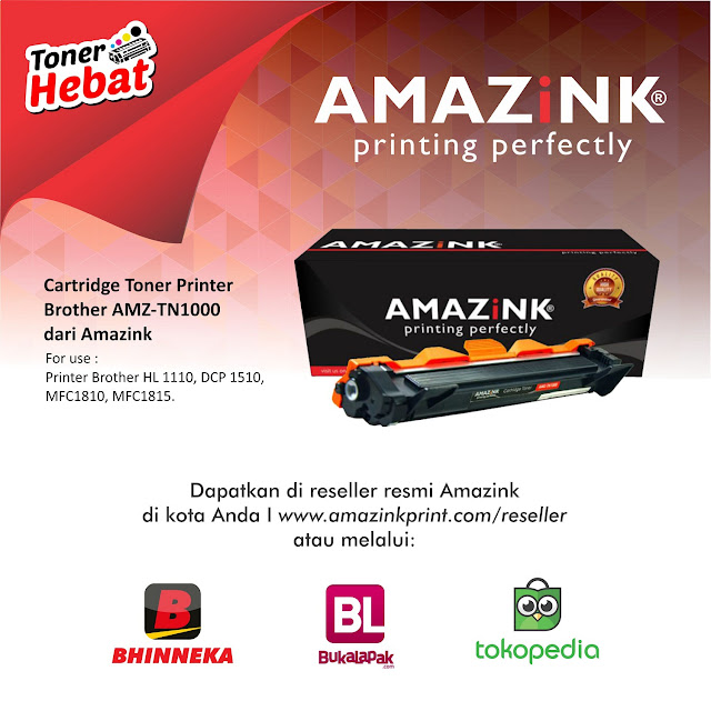 toner printer brother, toner tn1000, harga toner brother