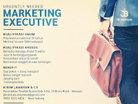 lowongan kerja marketing excekutive jb institute