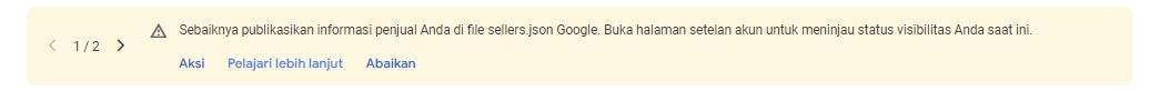 Cara Mengatasi Masalah Pesan sellers.json di Google AdSense