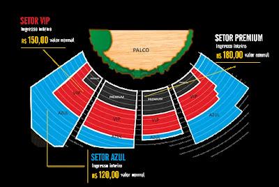 Korvatunturi - Mapa de assentos, para escolha dos ingressos