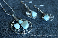 dream catcher necklace earring set