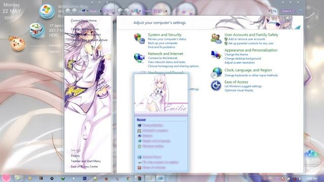 Re:Zero kara Hajimeru Isekai Seikatsu - Emilia Theme Win 7 by Andrea_37