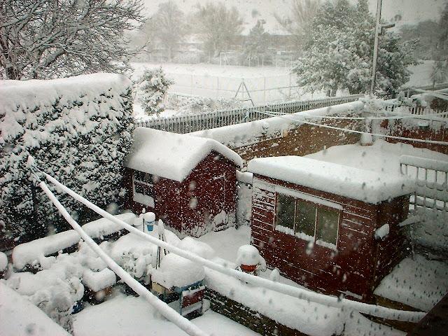 Artist John Allsopp -captures heavy snow