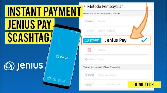 Cara Bayar Menggunakan $ Cashtag Jenius Pay