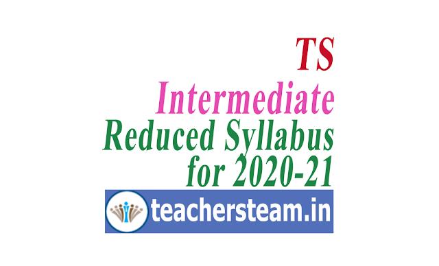 Telangana intermediate 30 percent reduced syllabus 2020-21