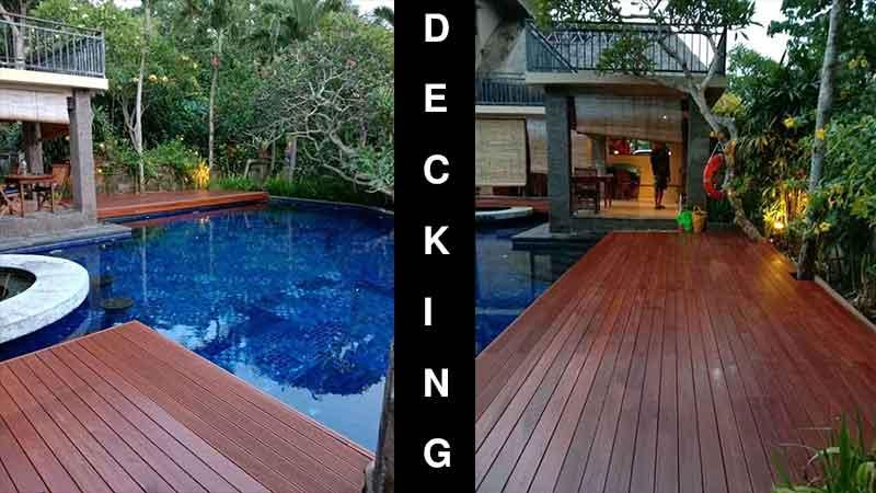 contoh pemasangan decking outdoor