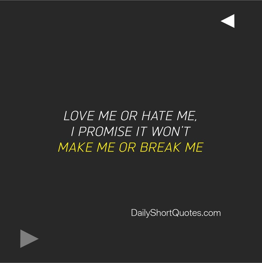 Attitude Quotes on Love and Break