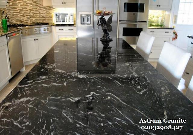 Get Agatha Black Granite Kitchen Worktop In London Call Now