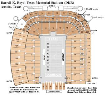 The University of Texas Longhorn Alumni Band - The Blast ... on darrell k royal stadium map, acc stadium map, dkr parking map, dkr stadium-seating chart view, dkr football seating capacity, milan puskar stadium map, ut stadium map, dkr suite map, texas stadium map,