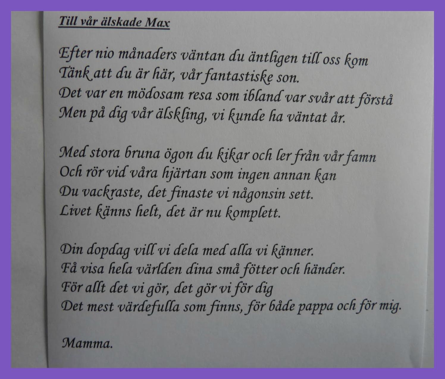 dikt till min son som fyller år På Selmas gata   en blogg om hem & inredning: På födelsedagen dikt till min son som fyller år