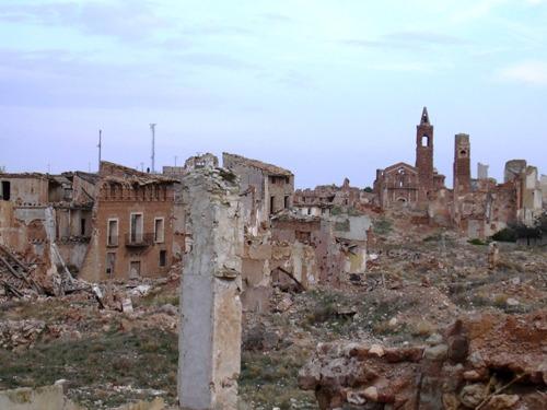 Belchite lugares paranormales España