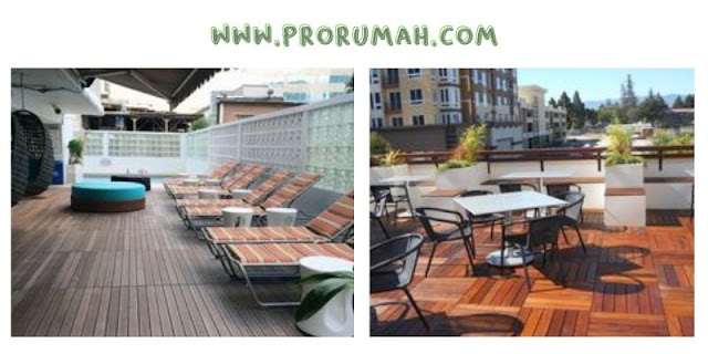 Bahan Untuk Lantai Rooftop - lantai kayu