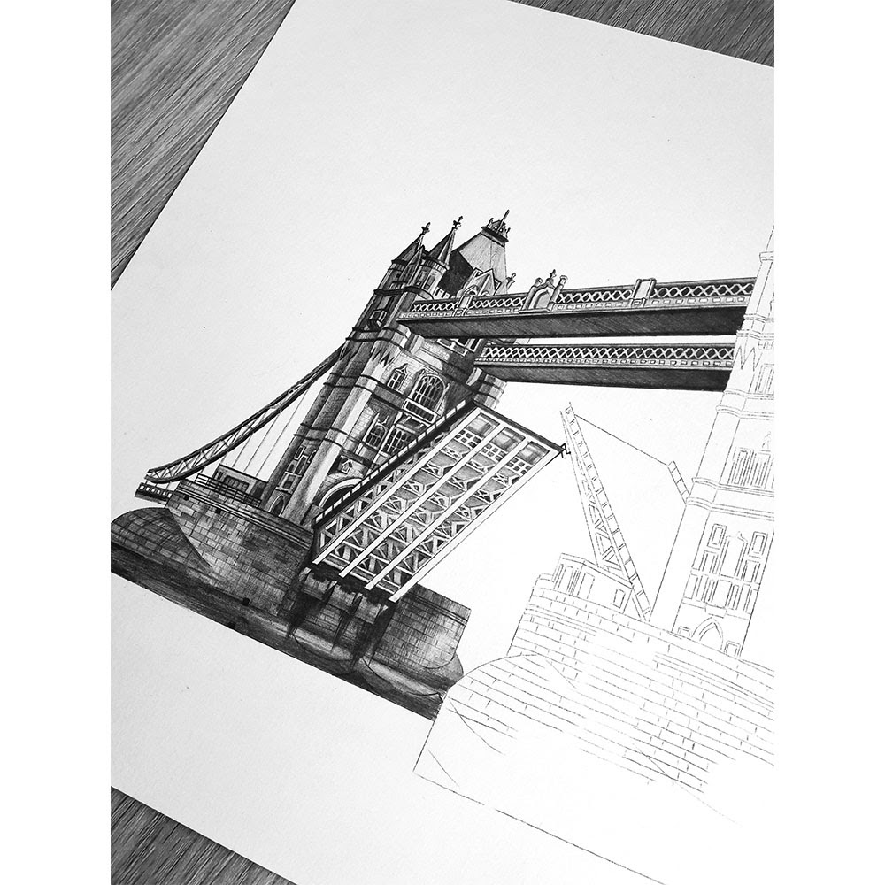 12-Tower-Bridge-UK-WIP-Elizabeth-Mishanina-Architecture-Immaculate-Drawing-Technique-www-designstack-co