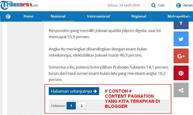 Cara Membuat Content Pagination di  Blogger seperti Wordpress