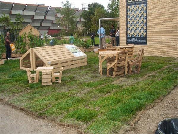 Preferenza Pallet Hackers: Arredamento da giardino con pallet EJ14