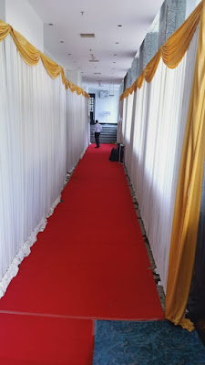 Wedding corridor decoration
