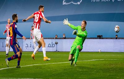 Resumen del partido de Barcelona y Athletic de Bilbao en la final de la Supercopa de España