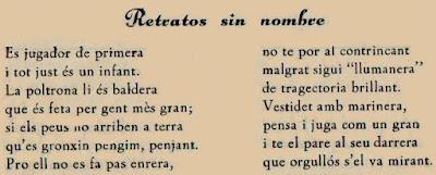 Versos en homenaje a Jaume Anguera